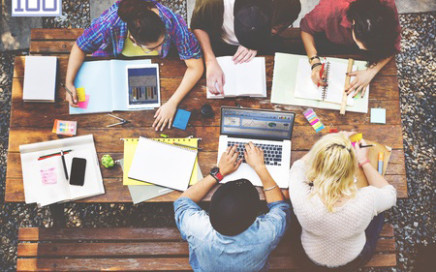 49273328 - diversity teamwork brainstorming meeting university concept