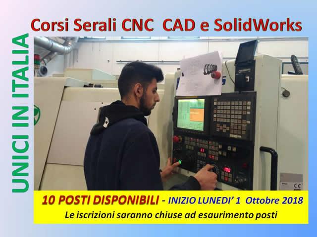 corsi serali CNC CAD SolidWork